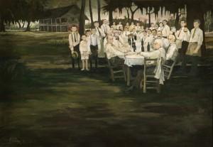 Aioli Dinner Painting
